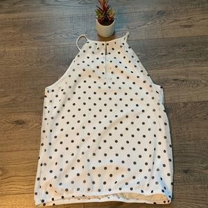 Black and white polka dot Express tank